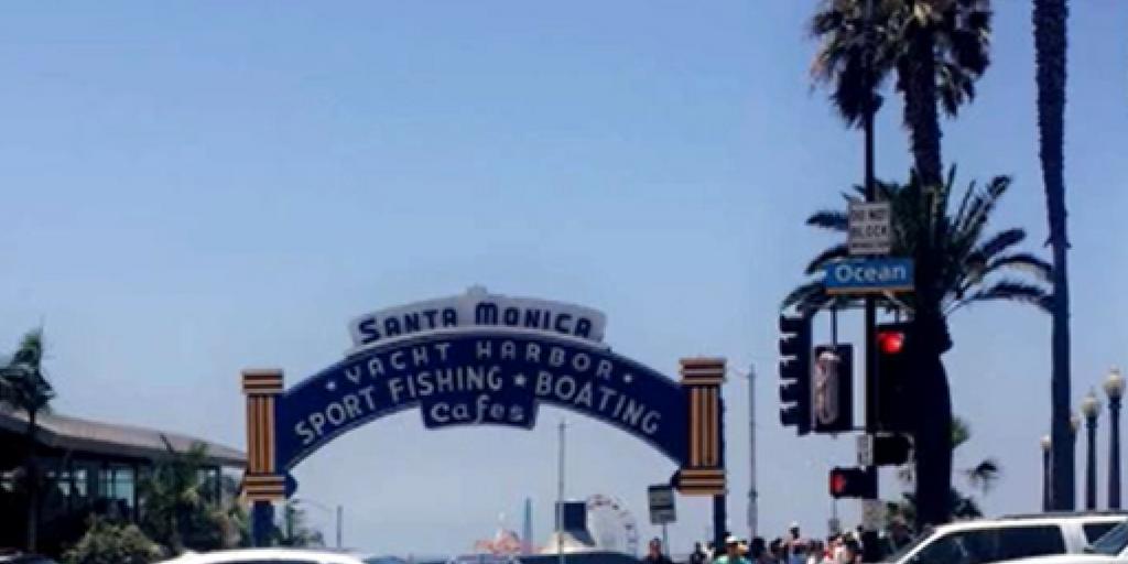 Visiting the famous Santa Monica Pier