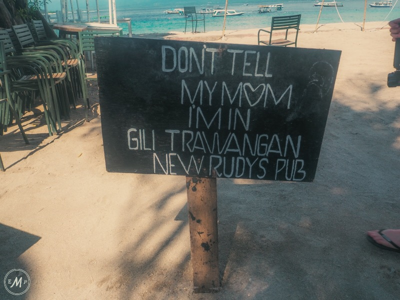 Gili Trawangan Itinerary nightlife