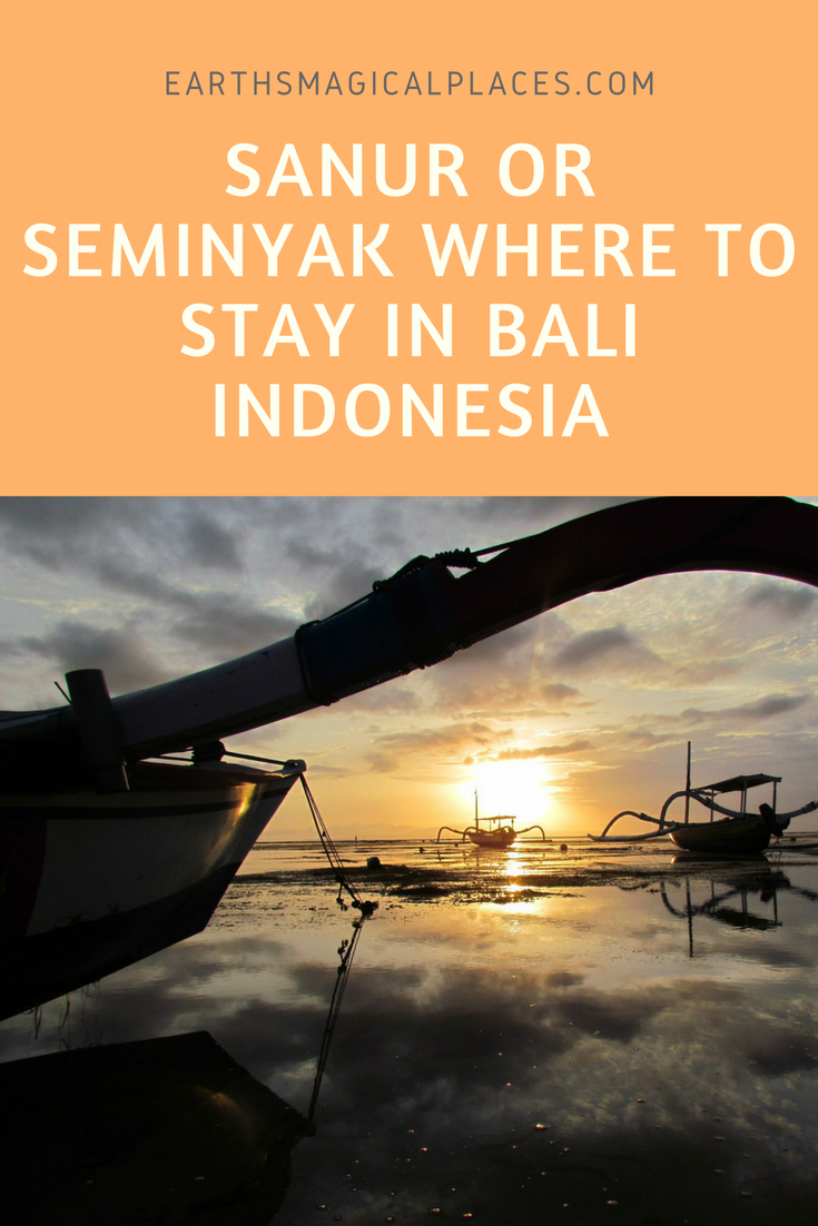 Struggling to decide where to stay in Bali Indonesia? Then you need to read this article which compare the destinations of Sanur and Seminyak.
