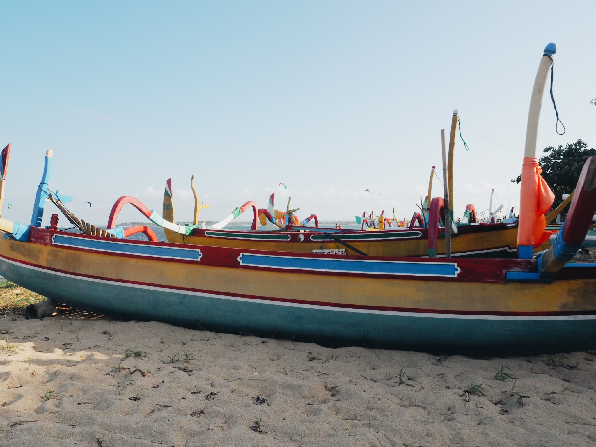 Travel Misadventures: Bali - boats on Sanur Beach