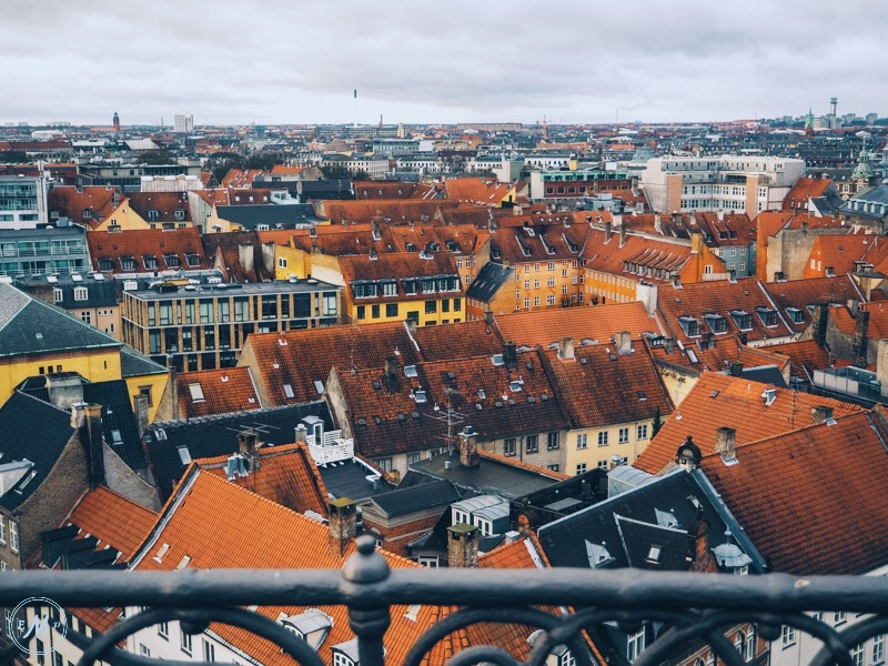 a guide to visiting copenhagen in winter - view from the round tower