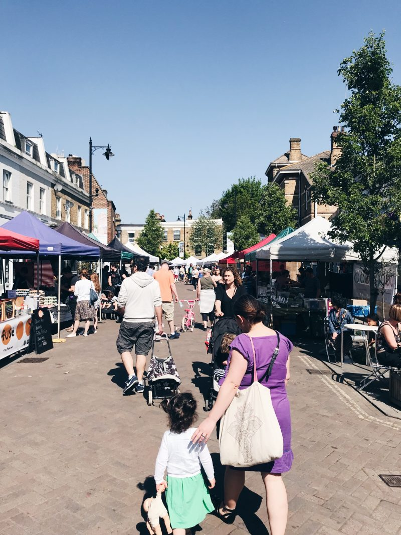Herne Hill Market - getting to dulwich village