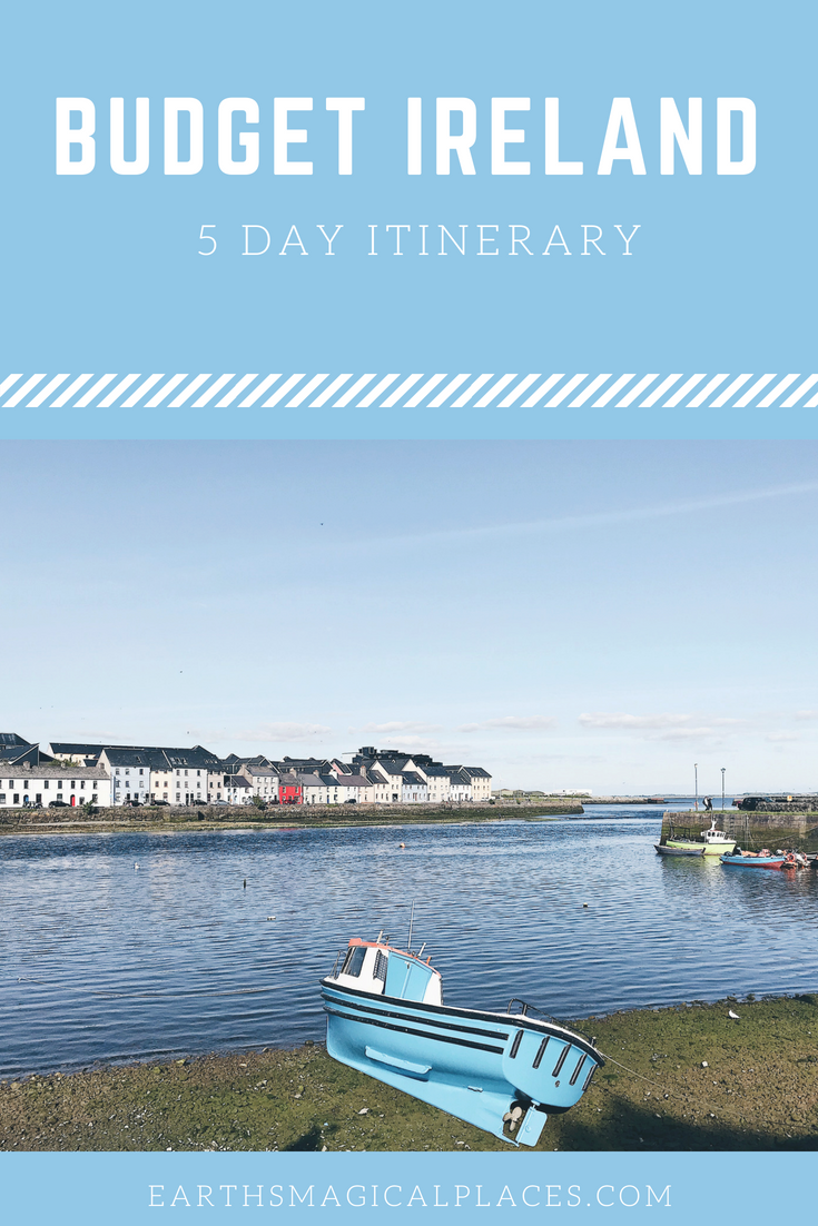 One Week Ireland Itinerary: This Southen Ireland Itinerary details how best to spend 5 days in Ireland. It includes everything you need to know about Dublin and Galway, including details on the bus and train along with ideas of the best things to do. So if spending one week in Ireland is on your bucket list then click to read! #Dublin #IrelandItinerary #Europe #destinations #Southern #5days