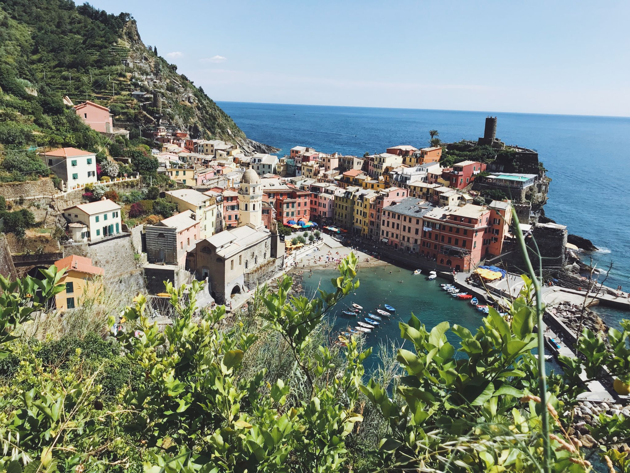 cinque terre trail, vernazza viewpoint