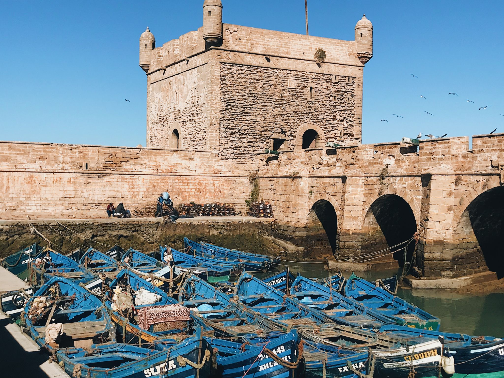 Essaouira Blue fishing boats