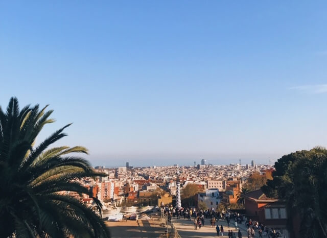 Amazing views from Park Güell